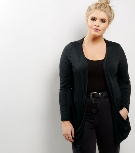Curves Dark Green Boyfriend Cardigan | New Look