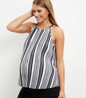 maternity-black-stipe-top
