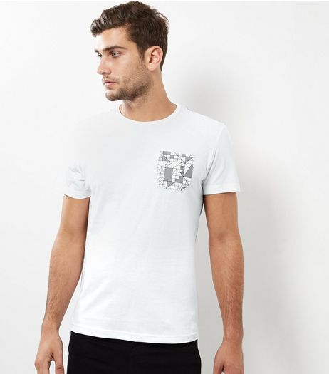 White Sheen Back Print T-Shirt | New Look