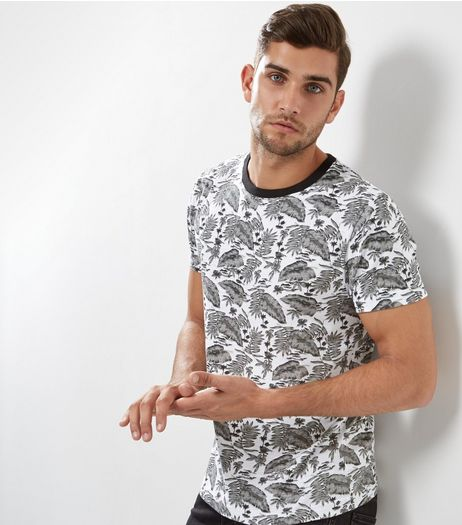 White Paragon Print T-Shirt | New Look