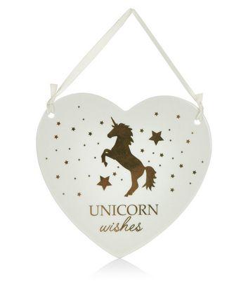 Cream Unicorn Wishes Heart
