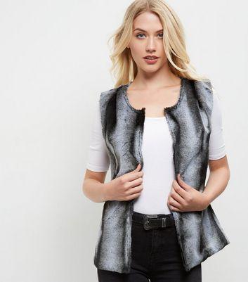 Mela Grey Faux Fur Gilet