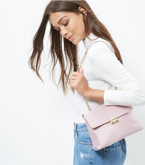 Oatmeal Sateen Chain Shoulder Bag | New Look