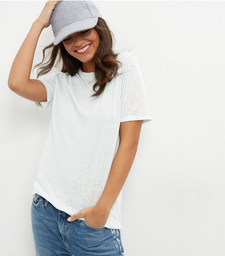 Grey Washed T-Shirt  | New Look