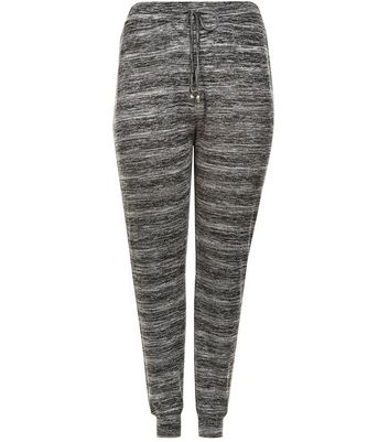 Curves Grey Space Dye Stud Trim Lounge Joggers