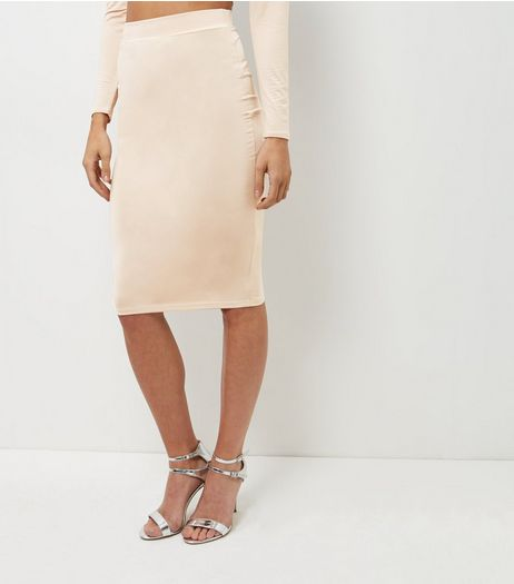 Shell Pink Pencil Skirt  | New Look