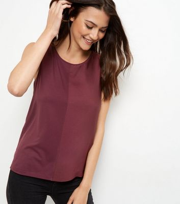 Burgundy Sateen Colour Block Vest