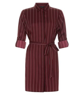 petite-red-stripe-shirt-dress
