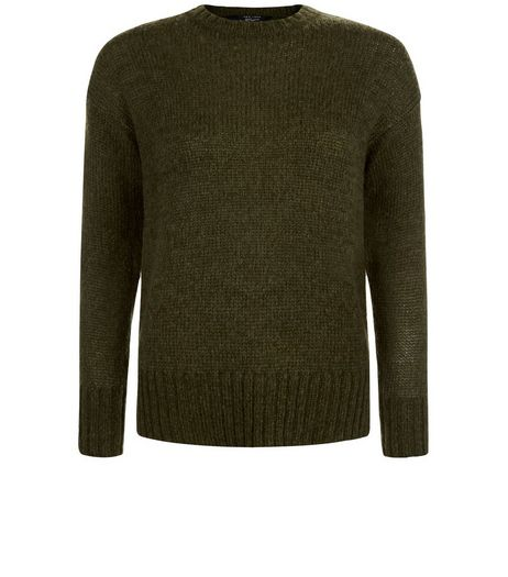 Teens Khaki Crew Neck Jumper | New Look