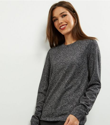 Tall Silver Crew Neck Sweater | New Look