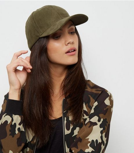 Khaki Suedette Structured Cap | New Look