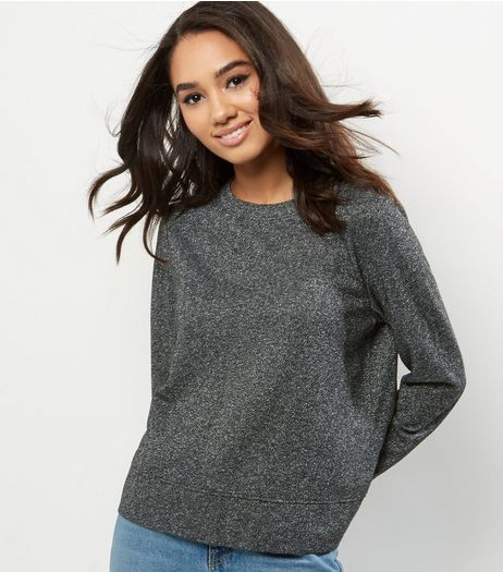 Petite Silver Metallic Sweater | New Look