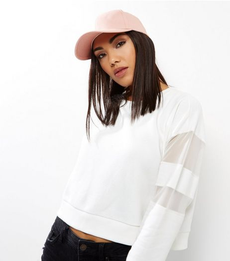 Pink Curved Peak Cap  | New Look