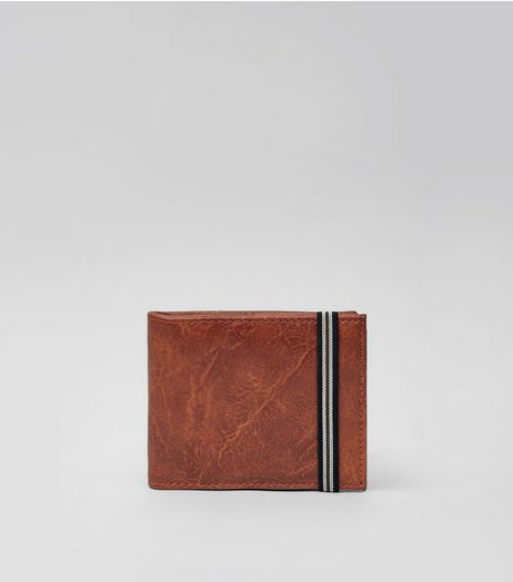 Brown Elasticated Wallet | New Look