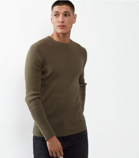 Brown Cotton Ribbed Jumper | New Look
