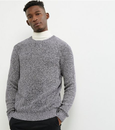 Light Grey Twist Ribbed Crew Neck Jumper | New Look