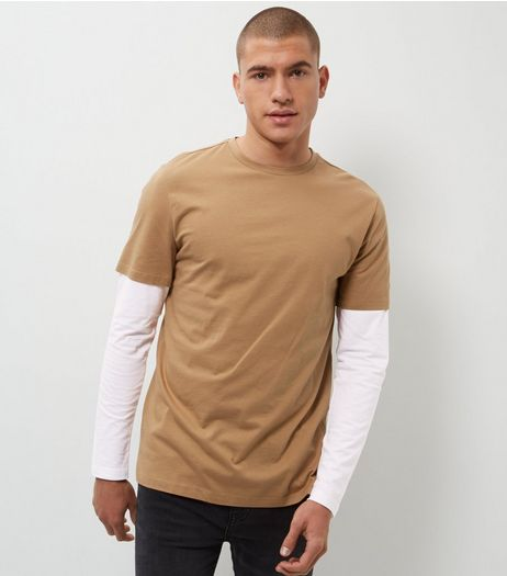 Tan Layered Long Sleeve Top  | New Look