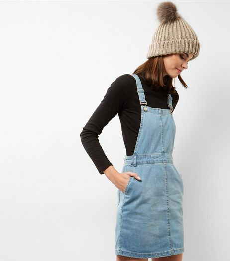 Blue Denim Pinafore | New Look