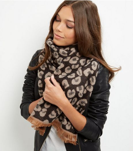 Brown Animal Print Scarf | New Look