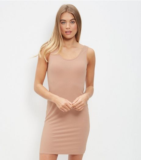 Shell Pink Bodycon Midi Dress | New Look