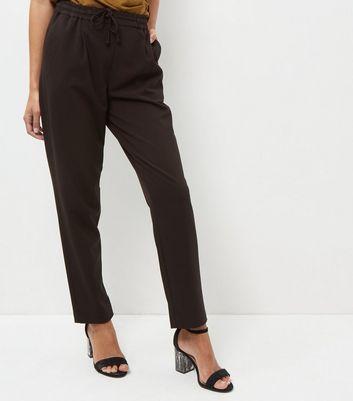 Black Straight Leg Drawstring Trouser
