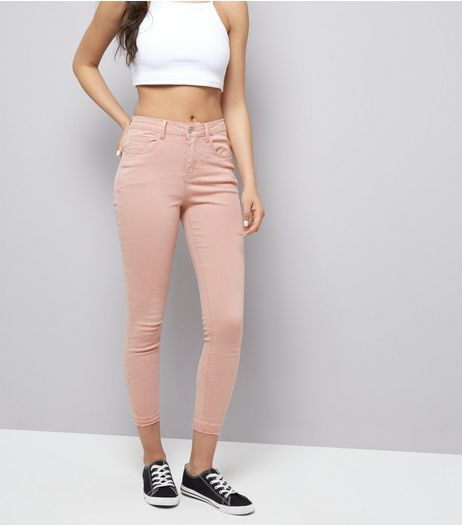 Shell Pink Washed Skinny Jeans | New Look