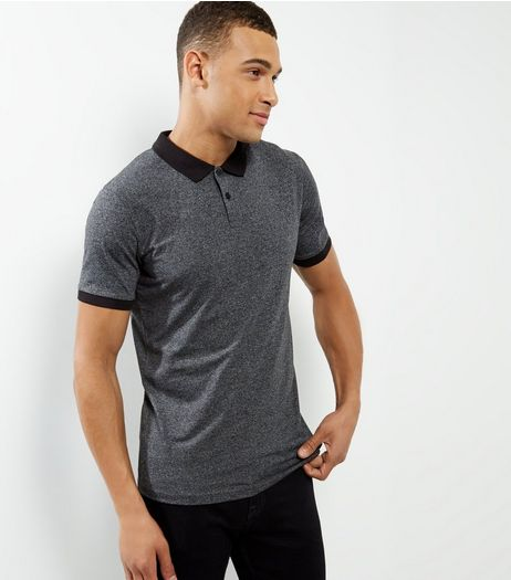 Light Grey Contrast Trim Polo Shirt | New Look