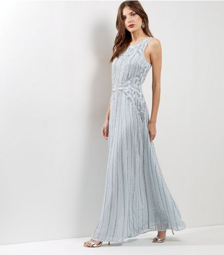 Grey Premium Embellished Maxi Dress | New Look