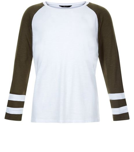 Teens Khaki Raglan Sleeve Top | New Look