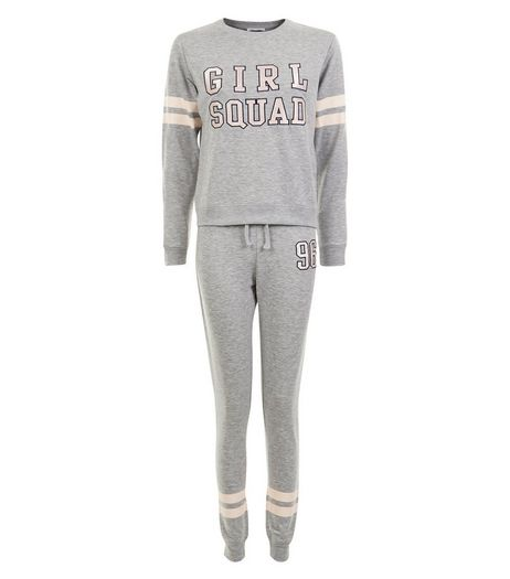 Teens Grey Girl Squad Pyjama Set | New Look