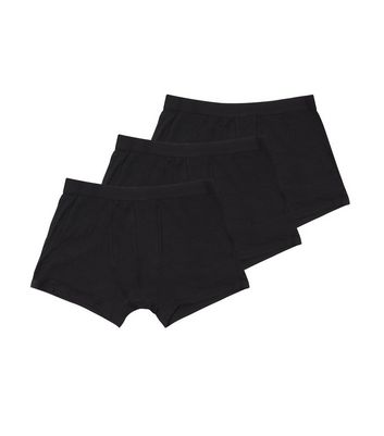 3 Pack Black Boxer Briefs