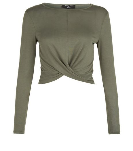 Teens Khaki Knot Front Top | New Look