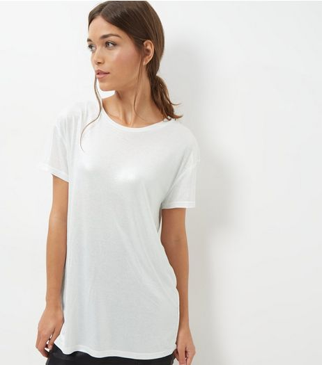 Silver Foil Boyfriend T-Shirt | New Look