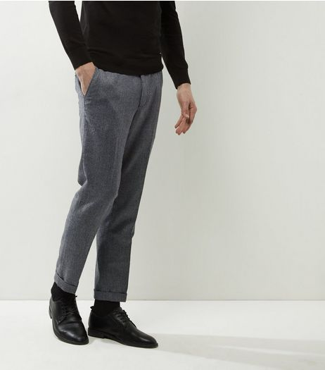 Grey Houndetooth Cropped Trousers | New Look