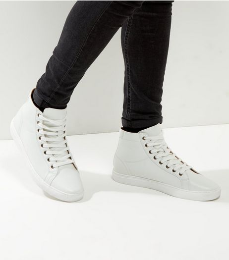 White Hi-Top Trainers | New Look