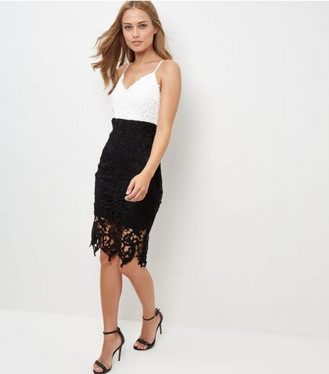 AX Paris White Laser Cut Out Crochet Dress | New Look