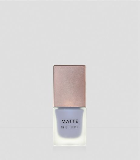 Misty Grey Matte Nail Polish | New Look