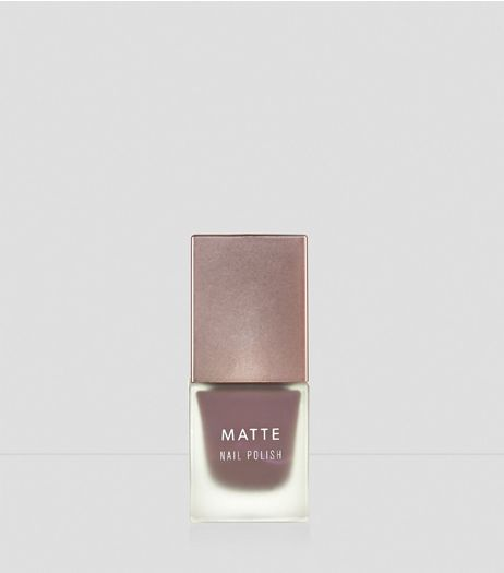 Truffle Brown Matte Nail Polish | New Look