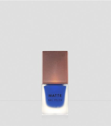 Royal Blue Matte Nail Polish | New Look