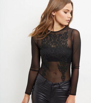 blue-vanilla-black-embroidered-sheer-bodysuit