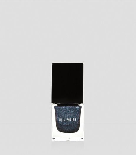 Galaxy Blue Metallic Nail Polish | New Look