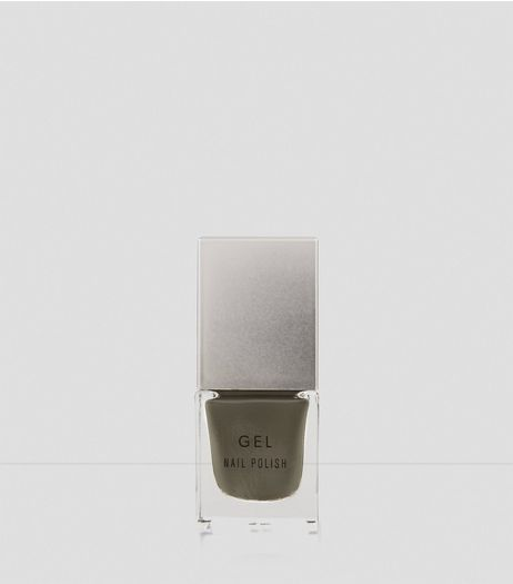 Dark Khaki Gel Nail Polish | New Look