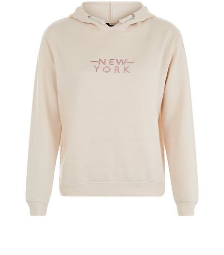 Teens Pink NYC Embroidered Hoody | New Look