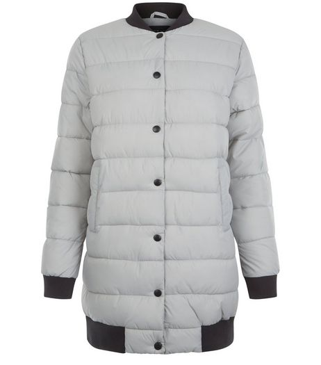 Teens Pale Grey Longline Puffer Jacket  | New Look