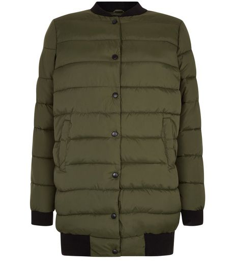 Teens Khaki Longline Puffer Jacket | New Look