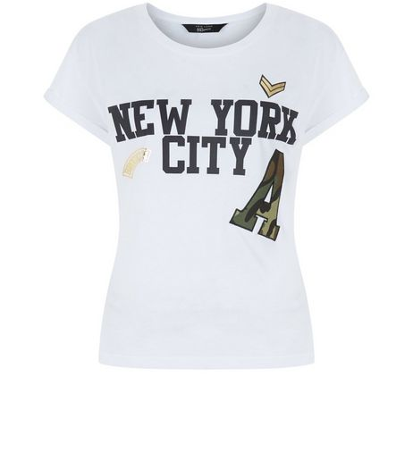 Teens White New York City Print T-Shirt | New Look