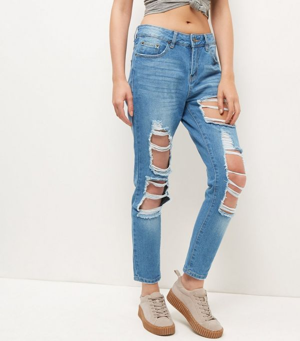 Cameo Rose Blue Ripped Jeans