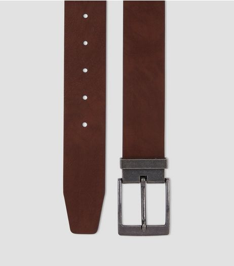 Brown Tapered End Belt | New Look