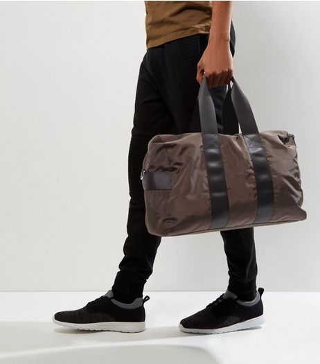 Khaki Double Strap Holdall  | New Look