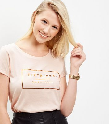 shell-pink-foil-5th-avenue-t-shirt